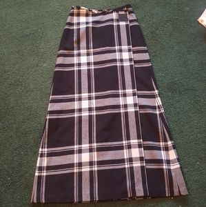 Ralph Lauren plaid midi skirt